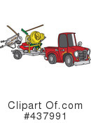 Pickup Truck Clipart #437991 by toonaday