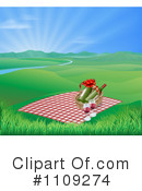Royalty-Free (RF) picnic Clipart Illustration #1109274