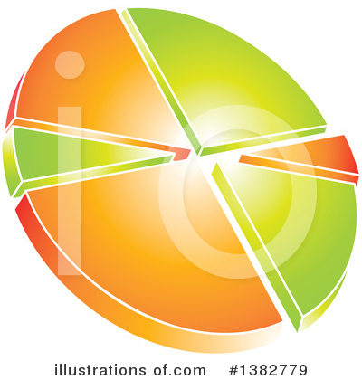 Royalty-Free (RF) Pie Chart Clipart Illustration by MilsiArt - Stock Sample #1382779