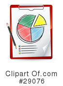 Royalty-Free (RF) Pie Chart Clipart Illustration #29076