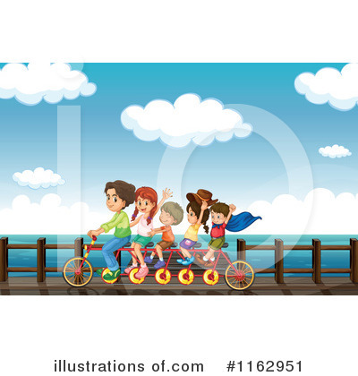 Tandem Bicycle Clipart #1162951 by Graphics RF