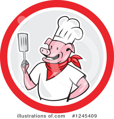 Chef Pig Clipart #1245409 by patrimonio