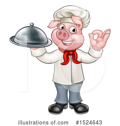 Chef Pig Clipart #1524643 by AtStockIllustration