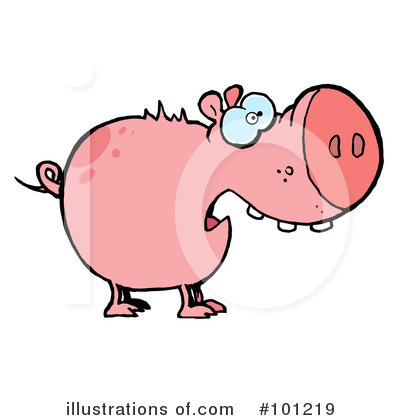 Pig Clipart #101219 by Hit Toon