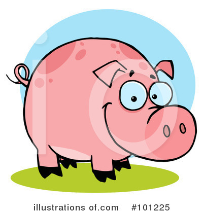 Pig Clipart #101225 by Hit Toon