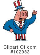 Royalty-Free (RF) Pig Clipart Illustration #102983