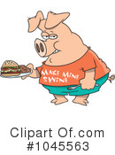 Pig Clipart #1045563 by toonaday