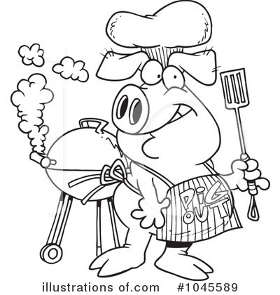 Bbq Clipart #1045589 by toonaday