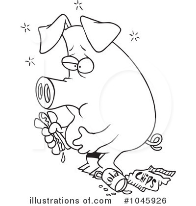 Royalty-Free (RF) Pig Clipart Illustration by toonaday - Stock Sample #1045926