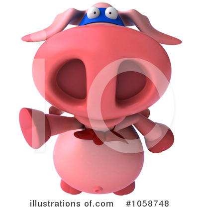 Super Pig Clipart #1058748 by Julos
