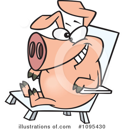 Pig Clipart #1095430 by toonaday