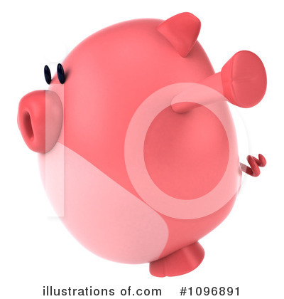 Chubby Pig Clipart #1096891 by Julos