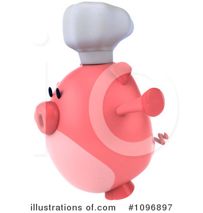 Chubby Pig Clipart #1096897 by Julos