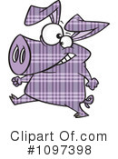 Royalty-Free (RF) Pig Clipart Illustration #1097398