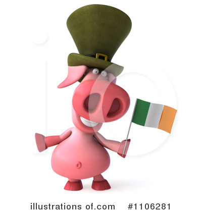 Irish Pig Clipart #1106281 by Julos