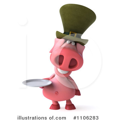 Irish Pig Clipart #1106283 by Julos