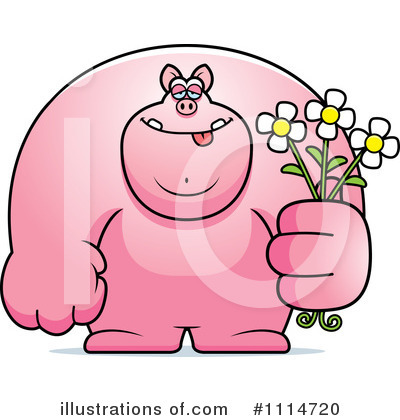 Giving Flowers Clipart #1114720 by Cory Thoman