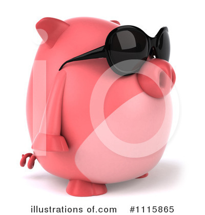 Chubby Pig Clipart #1115865 by Julos