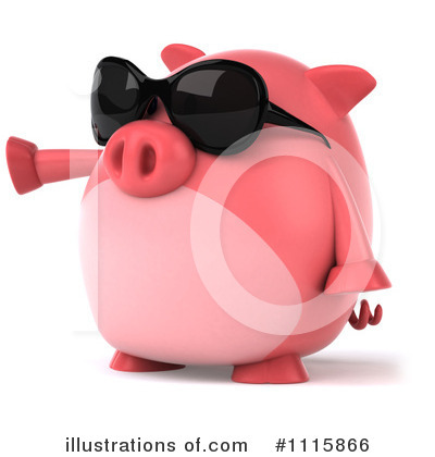 Chubby Pig Clipart #1115866 by Julos