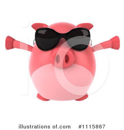 Chubby Pig Clipart #1115867 by Julos