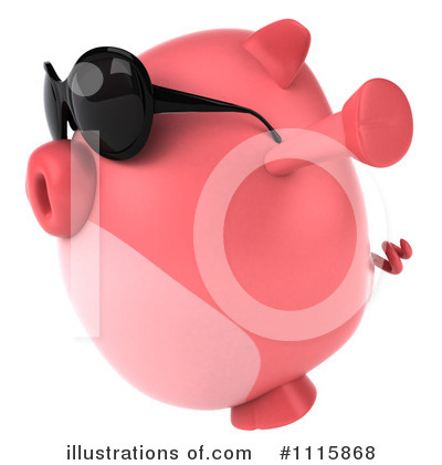 Chubby Pig Clipart #1115868 by Julos
