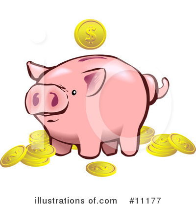 Royalty-Free (RF) Pig Clipart Illustration by AtStockIllustration - Stock Sample #11177