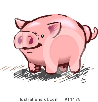 Pig Clipart #11178 by AtStockIllustration