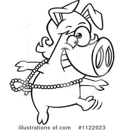 Pig Clipart #1122023 by toonaday