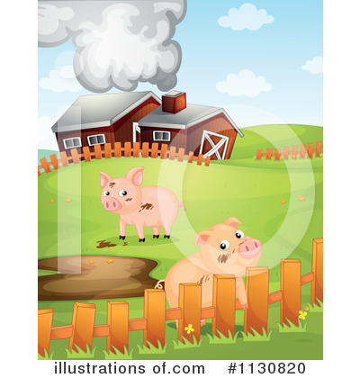 Royalty-Free (RF) Pig Clipart Illustration by Graphics RF - Stock Sample #1130820
