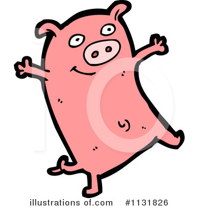 Royalty-Free (RF) Pig Clipart Illustration by lineartestpilot - Stock Sample #1131826