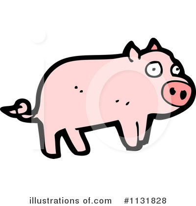 Royalty-Free (RF) Pig Clipart Illustration by lineartestpilot - Stock Sample #1131828