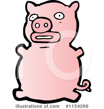 Royalty-Free (RF) Pig Clipart Illustration by lineartestpilot - Stock Sample #1154266