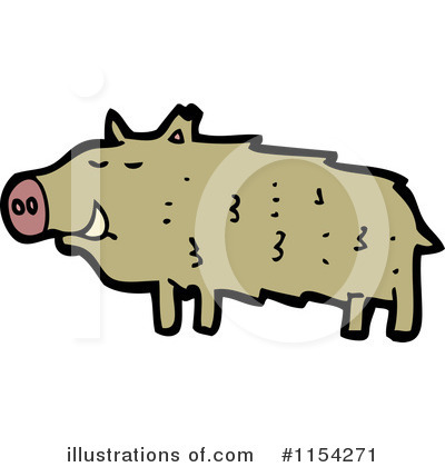 Royalty-Free (RF) Pig Clipart Illustration by lineartestpilot - Stock Sample #1154271
