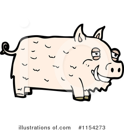 Royalty-Free (RF) Pig Clipart Illustration by lineartestpilot - Stock Sample #1154273