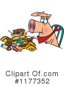 Royalty-Free (RF) Pig Clipart Illustration #1177352