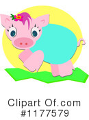 Royalty-Free (RF) pig Clipart Illustration #1177579
