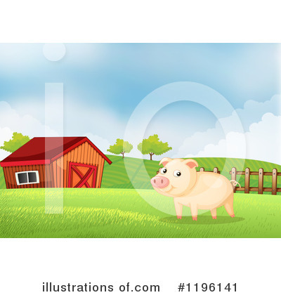 Pig Clipart #1196141 by Graphics RF