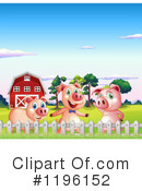 Pig Clipart #1196152 by Graphics RF