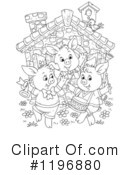 Royalty-Free (RF) Pig Clipart Illustration #1196880
