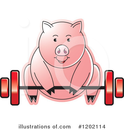 Weightlifting Clipart #1202114 by Lal Perera
