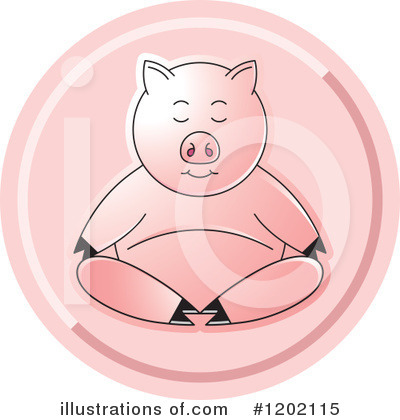 Meditating Clipart #1202115 by Lal Perera