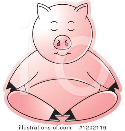 Meditating Clipart #1202116 by Lal Perera
