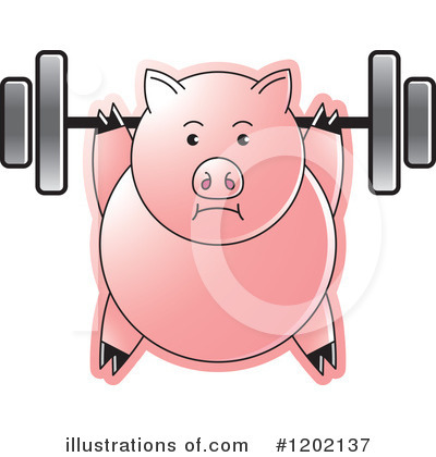 Weightlifting Clipart #1202137 by Lal Perera