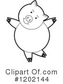Pig Clipart #1202144 by Lal Perera