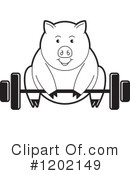 Pig Clipart #1202149 by Lal Perera
