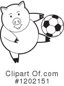 Pig Clipart #1202151 by Lal Perera