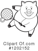 Pig Clipart #1202152 by Lal Perera