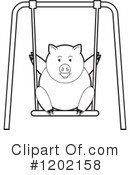 Pig Clipart #1202158 by Lal Perera