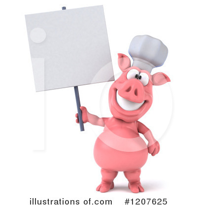 Chef Pig Clipart #1207625 by Julos