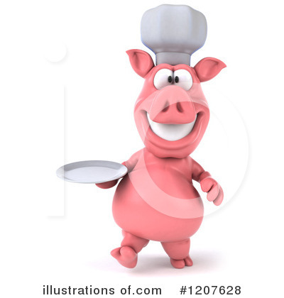 Chef Pig Clipart #1207628 by Julos